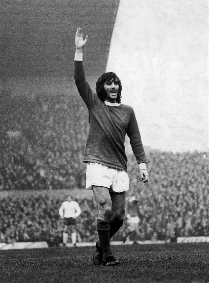 George Best celebrates a goal in 1971