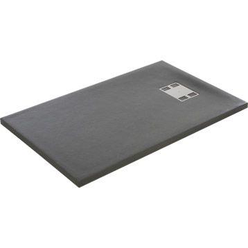 Receveur de douche extra plat Slate SENSEA, r�sine, 120x80cm