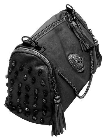 Skull Bowling Bag // Like but the little beaded skulls on the sides might be overkill. //