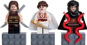 LEGO Prince of Persia Mini Figure Magnet Set - Dastan, Tamina, Hassanssin Leader by LEGO. $11.75. Dastan, Tamina and Hassanssin Leader from Disney's film The Sands of Time. Figures easily detach from gray LEGO magnet base.. Includes three character LEGO minifigures from Prince of Persia line. Age 6+. Figures are ~1.75 inches tall.  LEGO base is ~0.5 inch tall.. LEGO set includes Dastan, Tamina and Hassanssin Leader mini figures. These are authentic Prince of Persia mi...