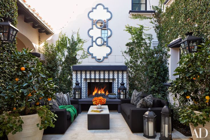 Are we in Morocco? Martyn Lawrence Bullard brought an exotic flair to the courtyard of Khloe Kardashian's California home.