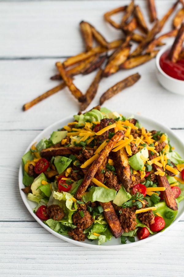 Vovó: Salada De X-Burguer Com Fritas