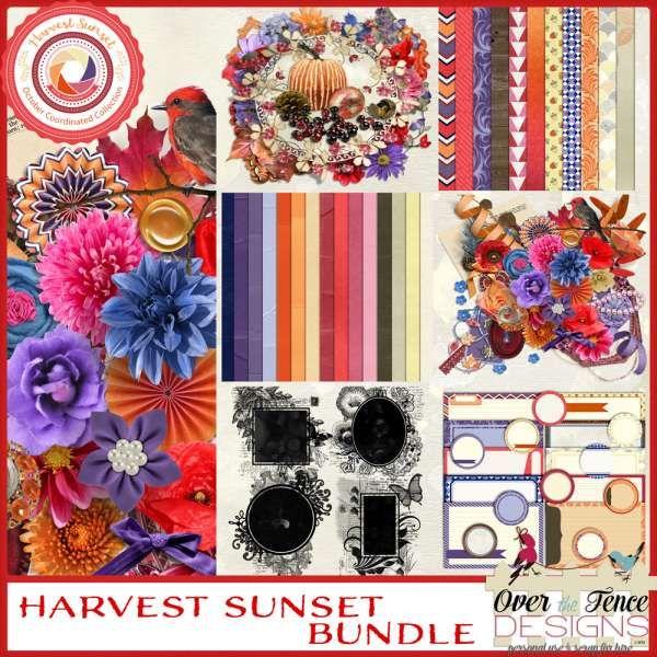 Digital Art :: Bundled Deals :: Harvest Sunset Bundle
