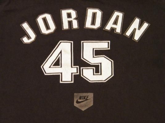 Michael Jordan. Number 45. #nike #jordan #WhiteSox #mlb #chicago #chisox
