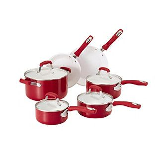 Guy Fieri 12-pc. Red Ceramic Cookware Set