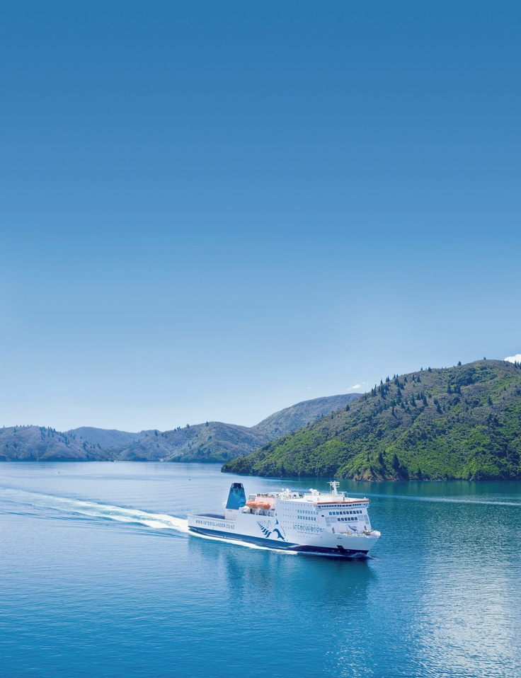 Our largest ferry, Kaitaki, sails through the Marlborough Sounds - great boat to sail on :) :)