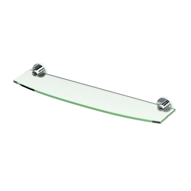 Its modern design features minimalist detail in a sleek hand polished finish making it compatible with any contemporary bathroom décor.  The Channel Glass Shelf offers a fresh look that will complete your bathroom accessory suite.