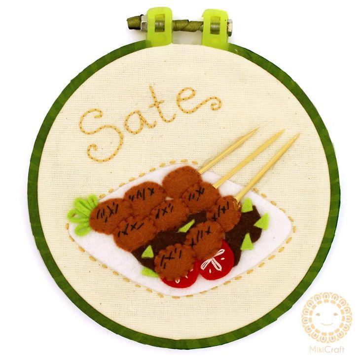"Satay hoop art 6"" 14 cm"
