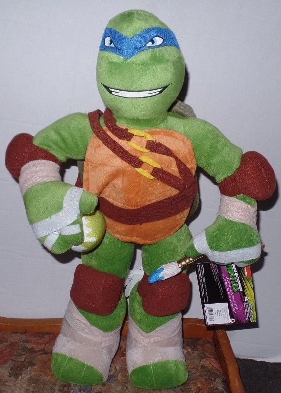Teenage Mutant Ninja Turtle Leonardo Plush Easter Porch Greeter 22 Inches NEW #Nickelodeon