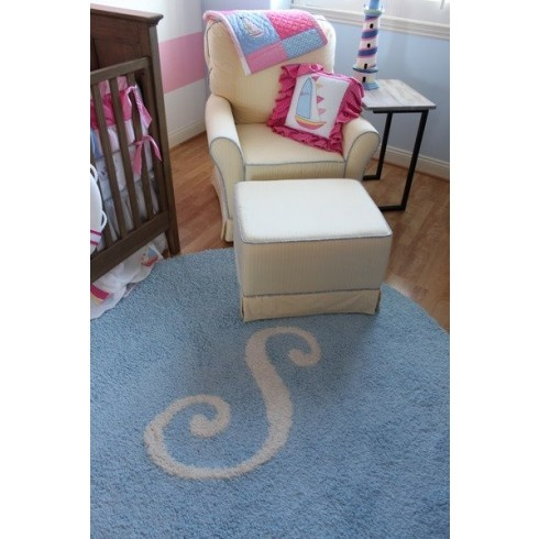 Custom Monogram And Initial Rugs Pick Colors Fonts Size Shape