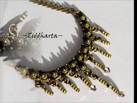 DIY Tutorial : Victorian SteamPunk necklace - Halsband Material-kit!