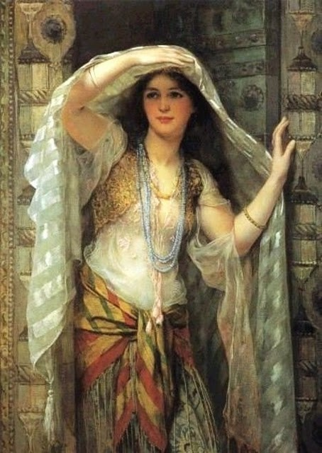 William Clarke Wontner. (British artist, 1857-1930) Safie, One of the Three Ladies of Baghdad 1900