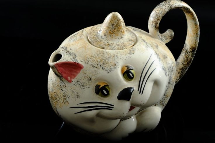 Carlton Ware Novelty Teapot - Cute Cat Teapot - Animal Tea Pot
