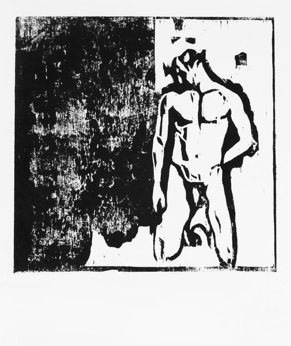 Original Nude Man Woodcut   Nude Male Art  Original Woodcut Nude Man Study  Original Artwork handmade by Evartstudio