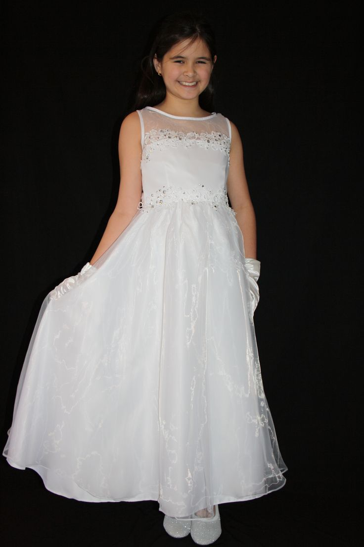 Satin and Tulle First Communion/Flower Girl Dress. $65 https://silknsatincommuniondresses.com.au/product/communion-dress-2/