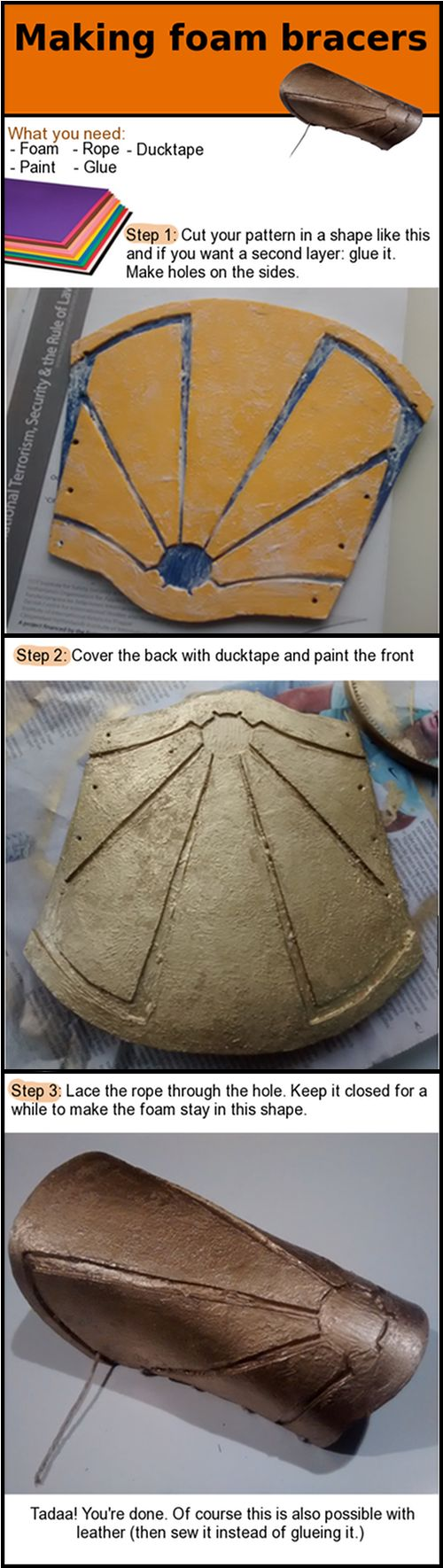 Foam Bracers tutorial for LARP or Cosplay
