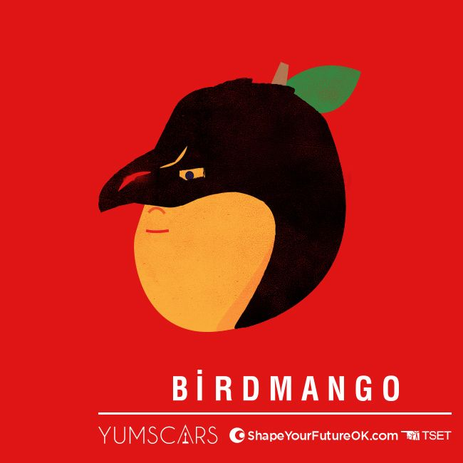 A juicy Mango, who was once a popular choice for a lunch side dish, disguises himself as a bird to scare away other unhealthy side options like fries and onion rings.   Vote today! #Yumscars #Birdman #Oscars