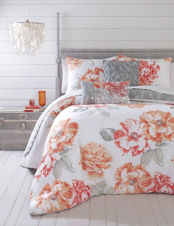 amazoncom jessica simpson 3piece golden peony comforter set queen