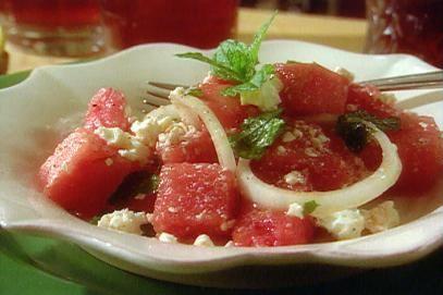 Watermelon Salad with Mint Leaves Recipe | Paula Deen | Food Network