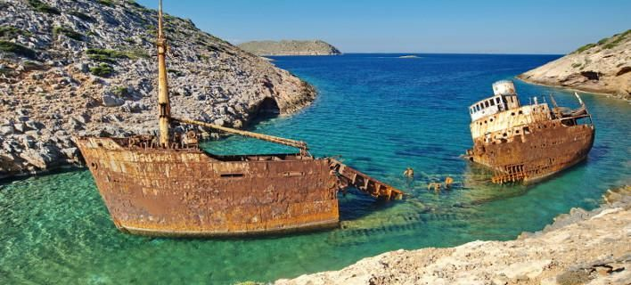 Shipwreck of the Olympia - Amorgos, Greece