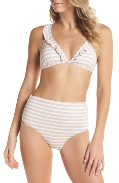 17a326ac090 Main Image - Chelsea28 Ruffle Halter Bikini Top   Currently Crushing ~  Spring 2018   Bikinis, High waisted bikini bottoms, Bikini tops