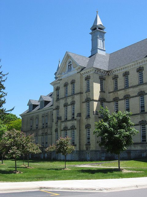Traverse City State Hospital (An old mental institution renovated into little shops & restaurants! So cool!)