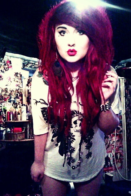 dyed red hair | Tumblr