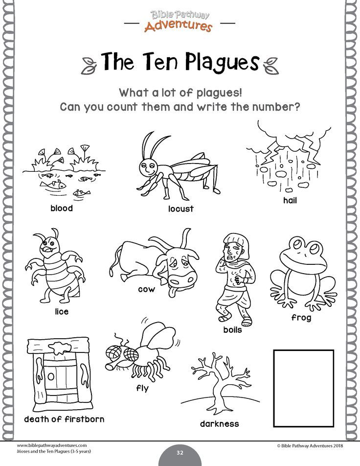 Moses And The Ten Plagues Activity Book Lesson Plans For Kids Ages