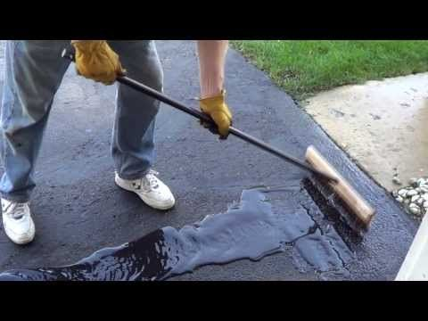How to Apply a Driveway Sealer - Sealing a Driveway - YouTube