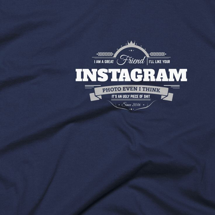 'Instagram friend badge' men's t-shirt