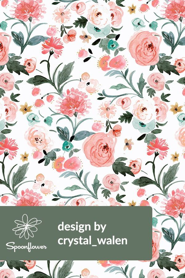Audrey Floral Vintage By Crystal Walen Hand Painted Floral