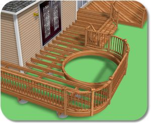 Deck plans to include a hot tub. We need to replace our deck in a few years... hot tub added in?! YES PLEASE!