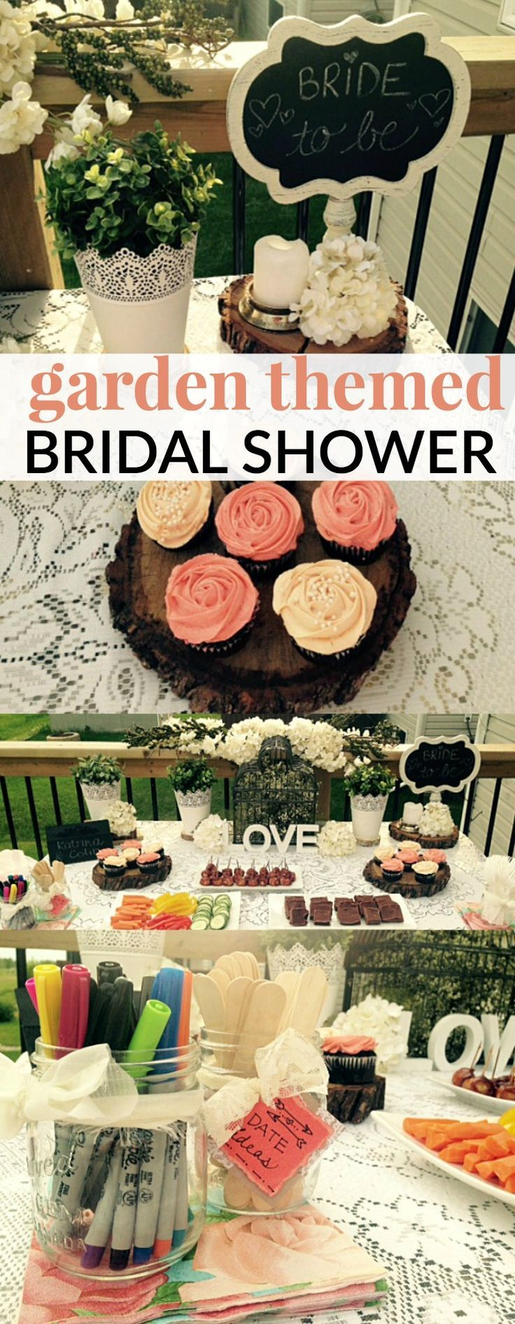 Bridal showers are a fun tradition that originated in the 1890s  as a way for family and friends to give gifts and well wishes.  Planning a surprise bridal shower is a lot of fun. This GARDEN THEMED BRIDAL SHOWER is perfect for summer brides!