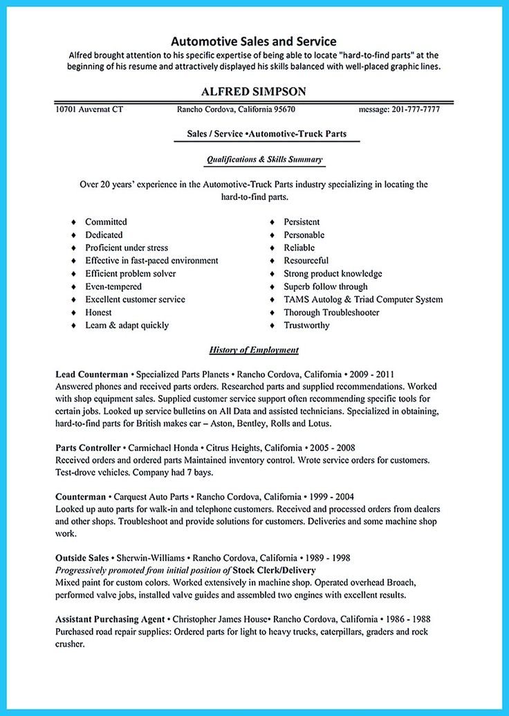 Pin on Resume Sample Template And Format Resume, Sales