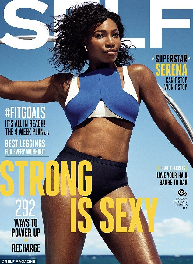 Champion looks: Serena Williams looks gorgeous on the latest cover of Self magazine ...