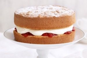 Bake a cake in your airfryer. Yummy jam and cream filled sponge.