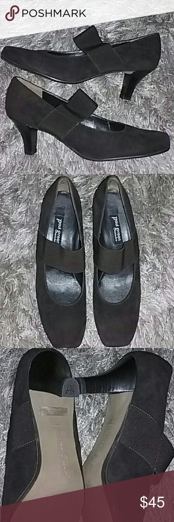 Paul Green Mary Jane suede pump new Paul Green Mary Jane suede pump brand new never worn in size 10 us Paul Green Shoes Heels
