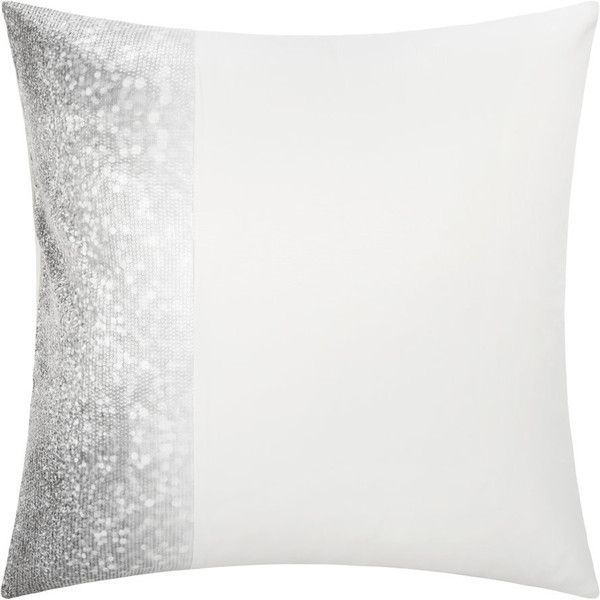 Kylie Minogue at Home Glitter Fade Pillowcase - Silver - 65x65cm ($34) ❤ liked on Polyvore featuring home, bed & bath, bedding, bed sheets, silver, square pillow case, glitter bedding, square pillowcases and kylie minogue at home