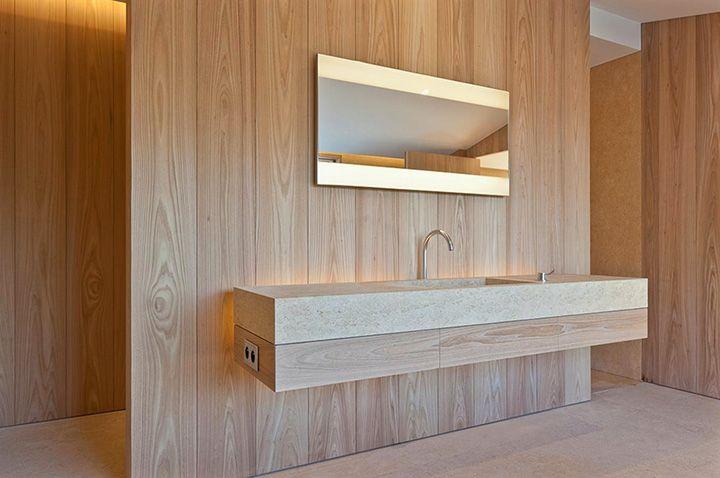Villa in Saint Tropez by John Pawson - sinks in honed Giallo Dorato by Grassi Pietre