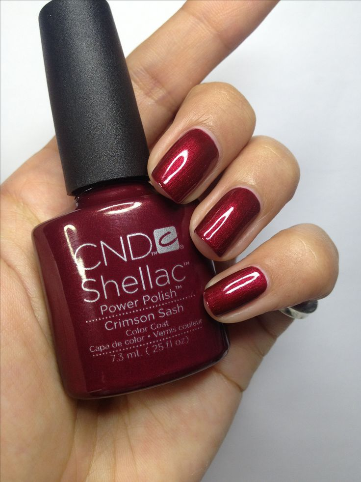 CND Shellac Autumn nails