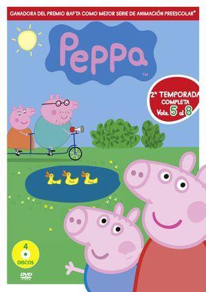 PEPPA PIG. 2ª TEMPORADA COMPLETA: Peppa es una cerdita encantadora, pequeña y descarada que vive con su hermano pequeño George, Mamá y Papá cerdo. A Peppa le encanta jugar, disfrazarse, conocer lugares interesantes y hacer nuevos amigos, pero lo que más le gusta es saltar en los charcos con barro.