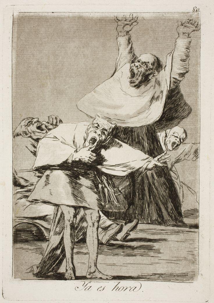 Francisco de Goya   Los Caprichos N°80 - YA ES HORA                                                                                                                                                                                 Más