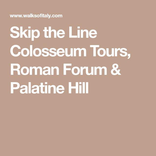 Skip the Line Colosseum Tours, Roman Forum & Palatine Hill