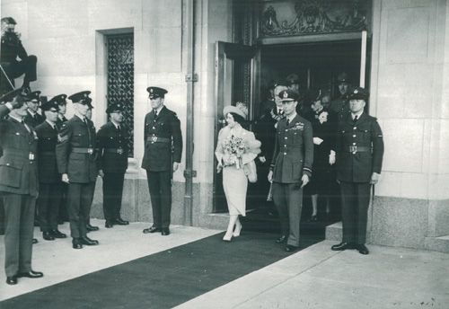 Royal Visit, King Geroge VI and Queen Elizabeth celebrating the opening of the hotel. May 25th, 1939.