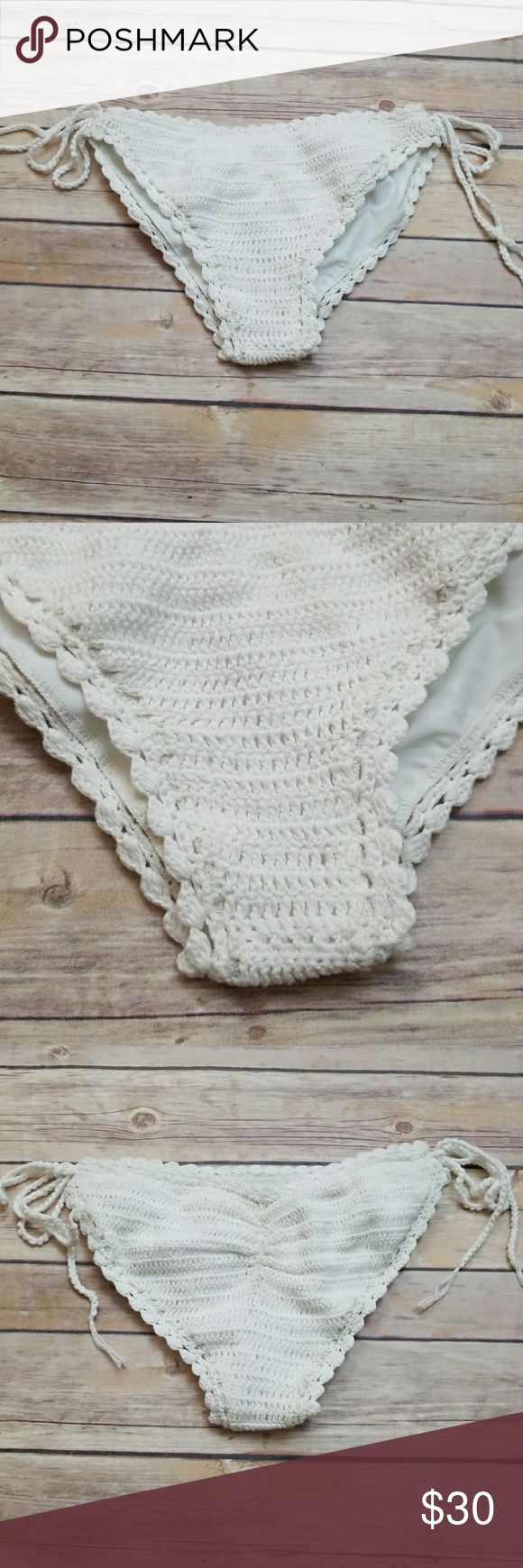 Beach riot bikini LAST ONE!!! brand new crochet white bottoms only Beach Riot Swim Bikinis