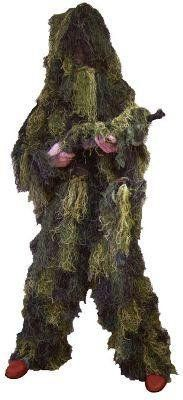 Red rock gear camo Ghillie suit 5-Piece Youth size 14-16; made of highest quality material; manufacturer: leapers; SKU: 9005367 Made of highest quality material Manufacturer: Red Rock Outdoor Gear Red rock gear Camo ghillie suit 5-piece Youth size 14-16 Lightweight and breathable polyester...