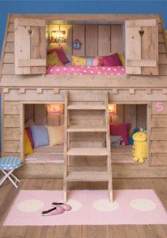 Preciosas casitas de madera de la firma saartjeprum para dormir como reinas