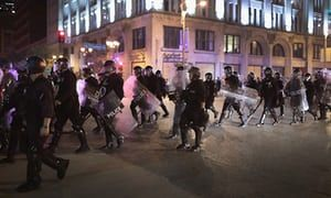 Police on patrol in St Louis