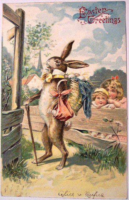 Love the collar on the Easter Bunny!