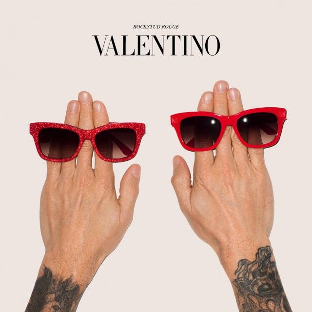 Deceptively simple, funny and memorable.  Valentino Rockstud Rouge by Terry Richardson